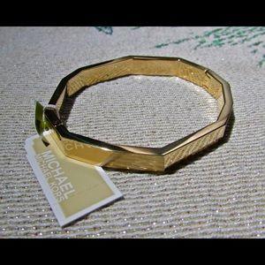 Michael Kor's Unique Gold Bangle Bracelet